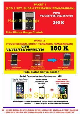 Bisa Pilih Kaca Saja/LCD 1 set Vivo V5/V5S/Y67/Y66/Y65/Y69 sdh+pasang