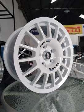 Jual velg rally ENKEI RCT ring 16x7 pcd 5x114.3 rush xpander