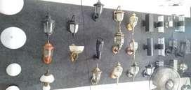 Lampu dinding tempel hias pagar rumah teras taman