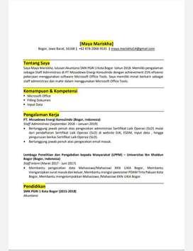 Mencari pekerjaan bagian Staff admimistrasi