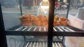 Jaga stand ayam geprek