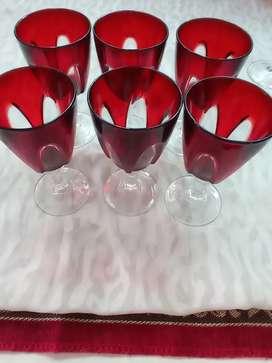 [ORI] Gelas Kristal Merah