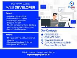 Lowongan Web Developer, Android Developer, Digital Marketing & Design