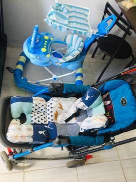 Dijual cepat stroller pliko grande plus baby walker