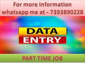 PART TIME work Offline Home based job Data entry typing ad posting job
