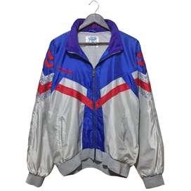Vintage Hummel Color Block Bomber Jacket