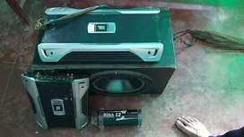 2 amplifier  4 channel JBL high quality woofer