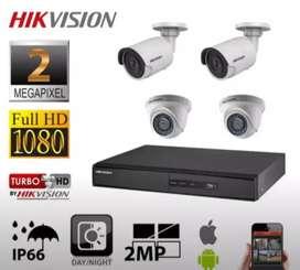 paket kamera cctv 1080p full hd 2Mega fixel paket kumplit