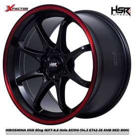 Velg Mobil Swift, Yaris, Mobilio, Ignis Ring 16x7/8,5 HSR HIROSHIMA