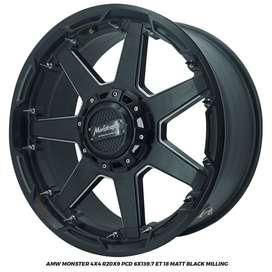 VELG AMW MONSTER 4x4 R20x9.0 PCD 6x139,7 PAJERO HILUX LC FORTUNER
