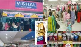 Job vacancy in Vishal mega Mart for freshers candidate