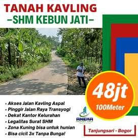 Tanah Murah Dijual 1000m² di Bogor Pinggir Jalan