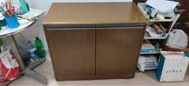 wooden 2 door cabinet with long rust-free metal handle
