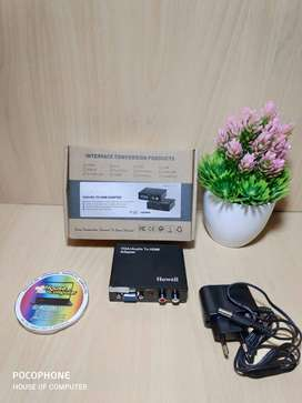 vga to hdmi converter with adaptor interface howell