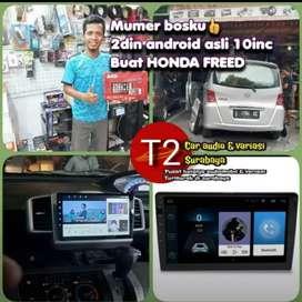 For HONDA FREED 2DIN ANDROID ASLI 10INC CANGGIH+CAMERA HD MUMER GAN