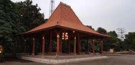 Rumah Kayu Jati Joglo Tumpangsari ukir soko utama 20cm, Pendopo Joglo