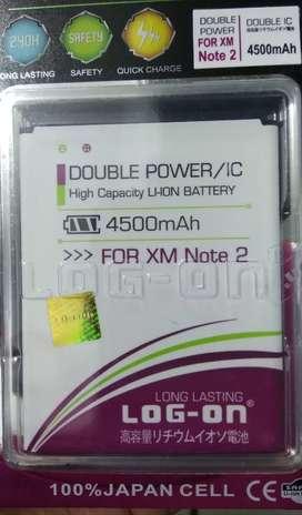 Baterai Xiaomi Redmi note 2 doble power