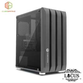 CUBE GAMING LOCUS - mATX - LEFT SIDE TEMPERED GLASS - PSU COVER