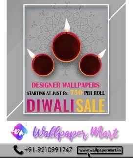 Diwali Sale - Designer wallpapers starting at just Rs. 750