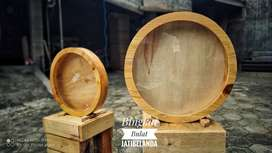 Bingkai bulat kayu jati belanda dan plywood
