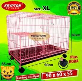 Kandang Kucing, Anjing Dan Kelinci Merk Krypton Tingkat 1 Size XL