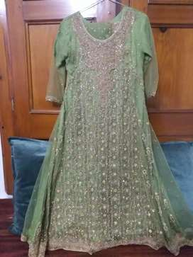 Embroided net Frock