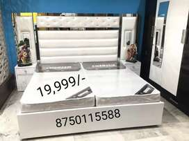 High back bed with heavy storage box