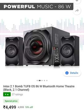 Brand new Intex High Bass Home theater 86watt/1 week before purchased
