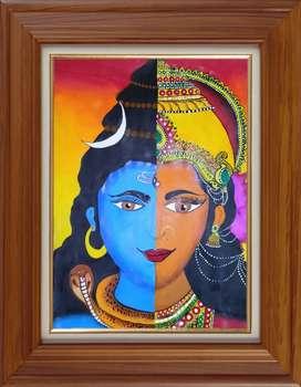 Shiv parwati art