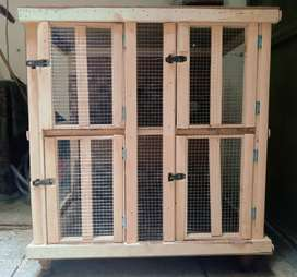 A wooden new cage