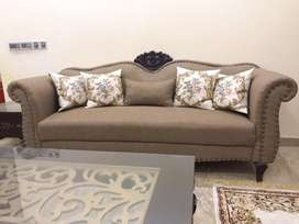 Drawing room 7 seater sofa with 1 center table and 2 side Tables