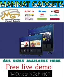 "Amazing Crystal Big Screen Display 40"" Smart + Android LED TV"