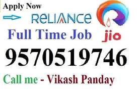 Hiring in Reliance jio company for full time job on roll Vacancy