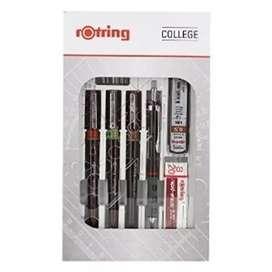 Pensil atau Pulpen menggambar Rotring Isograph College Set