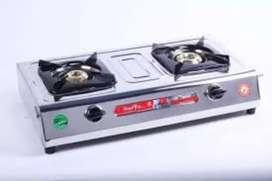 Surya 2 burner stainless steel body gas stove new