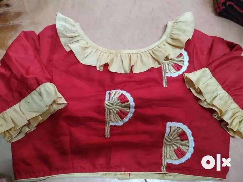 Stitched designer bong fashion blouse 0