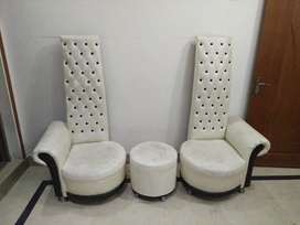 High Back Sofa Chairs with Round Table
