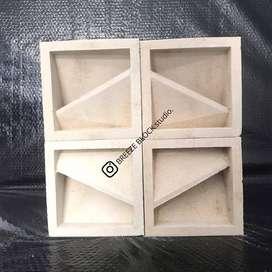 roster / loster beton putih diagonal
