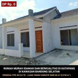 Rumah murah DP Rp. 0 di Katapang, Kopo, Cibaduyut, Soreang, Bandung