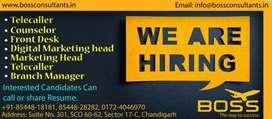 Hiring for Visa counsler in chandigarh salary 15k-25k