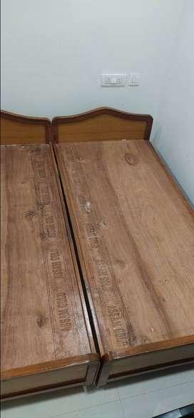 Two single beds of size 3x6.25 Feet for immediatesale