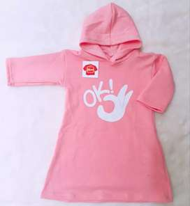 Konveksi Dress Hoodie / Tuniq Hoodie Anak Babyterry/Fleece