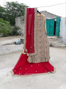 Bride beautiful dress with free mhndi dress