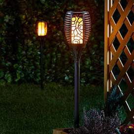Solar Flame Light for Gardens & Lawns - Outdoor Sensor integrated