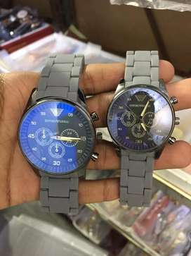 GRAY Chain style Couple Watch