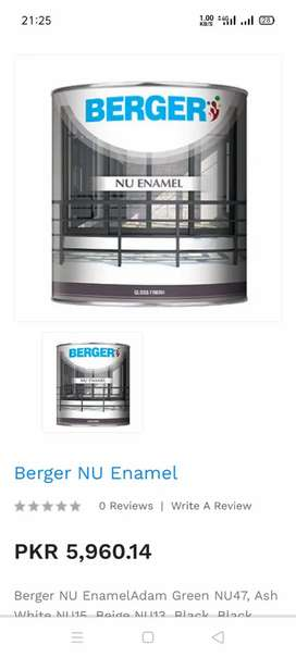 Burger Paint NU ENAMEL NU 42 no in cheap price