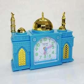 Jam Beker Alarm Suara Adzan berbentuk Masjid
