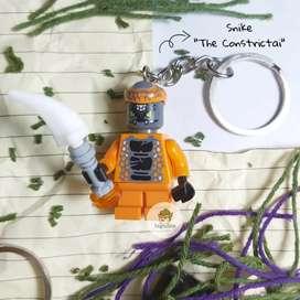 Gantungan Kunci Lego Ninjago Minifigure Snike The Constrictai