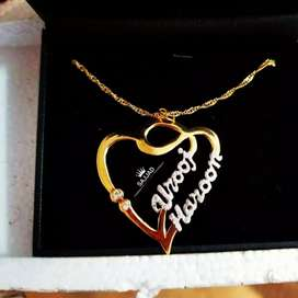 Name Necklace Customized Name Gold Plated Necklace And Bracelets