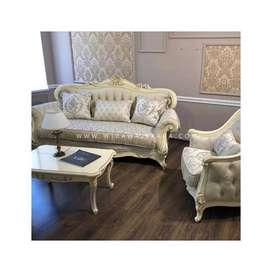 Satu Set Sofa Tamu Minimalis Mewah Ukir 211